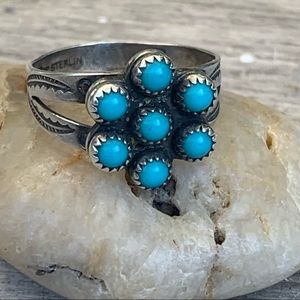 Fred Harvey Era Bell Trading Post Turquoise Ring💙